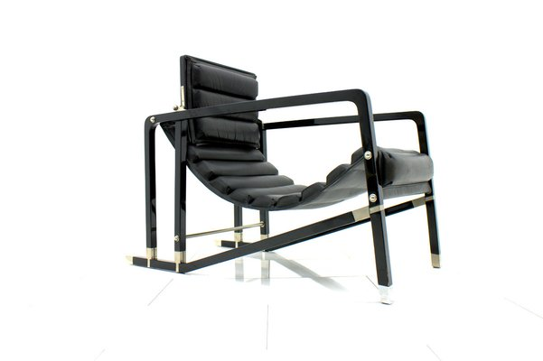 vintage black lounge chair by eileen gray for ecart international