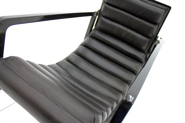 Vintage Black Lounge Chair By Eileen Gray For Ecart International, 1980s 10