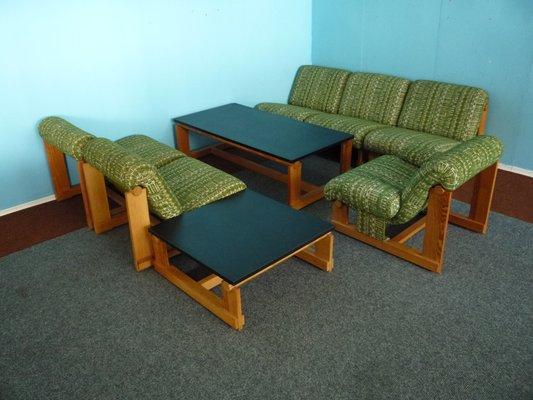 Tavolini In Legno Da Salotto : Set da salotto vintage in legno di abete con 2 tavolini da caffè