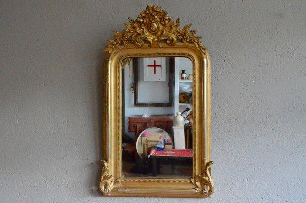 Antiker Französischer Spiegel Mit Goldrahmen Bei Pamono Kaufen