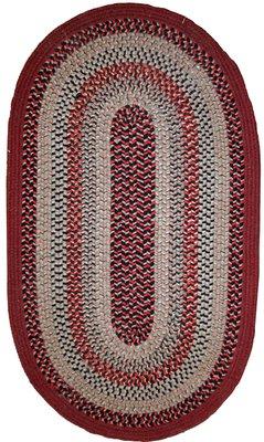 Vintage American Oval Braided Rug