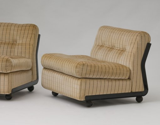 Amanta Lounge Chairs By Mario Bellini For B B Italia 1970s Set Of