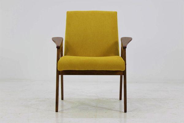 Mid Century Yellow Armchair 1960s 1