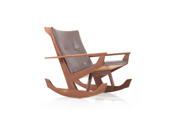 teak rocking chair by georg jensen for kubus 1960s for sale at pamono