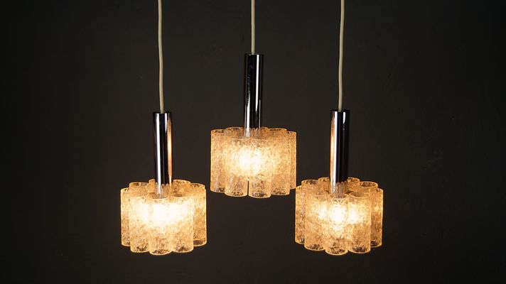 Lampade Da Soffitto Vintage : Lampada da soffitto vintage con tre luci di doria leuchten in