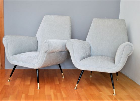 Italian Lounge Chairs By Gigi Radice For Minotti, 1950s, Set Of 2 2