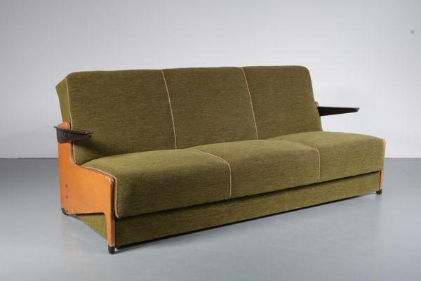 Sofa Cama De 3 Plazas Anos 50 En Venta En Pamono