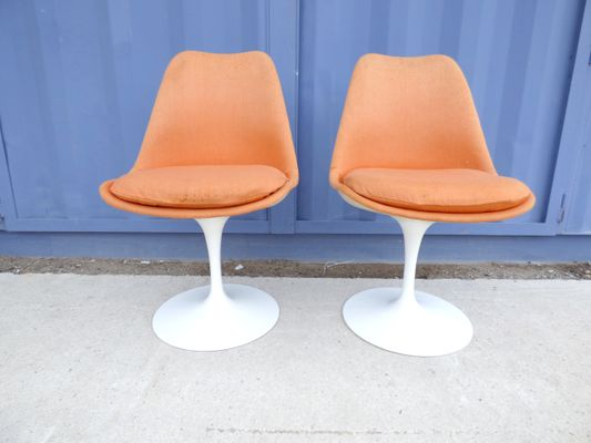 Mid Century Tulip Chairs By Eero Saarinen For Knoll Inc, 1950s, Set Of