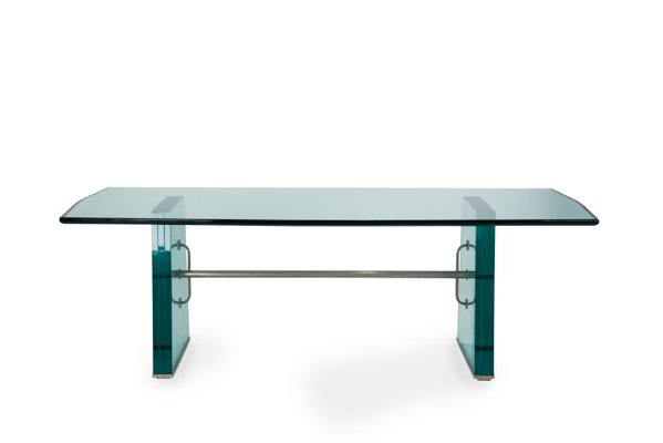 Solid Glass Dining Table By Pietro Chiesa For Fontana Arte 1934