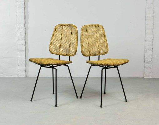 Cane Chairs By Dirk Van Sliedregt For Rohé Noordwolde, 1950s, Set Of 2 1