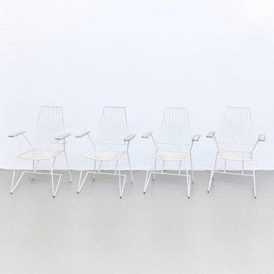 Chaises de Jardin Vintage par Mathieu Matégot, Set de 4 en vente sur ...