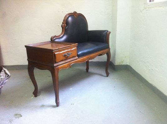 Vintage Telephone Bench, 1940s 16 - Vintage Telephone Bench, 1940s For Sale At Pamono