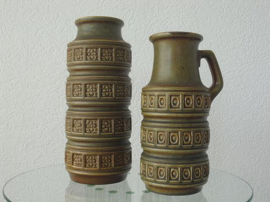Vintage West Germany Vases From Scheurich 1960s Set Of 2 For Sale