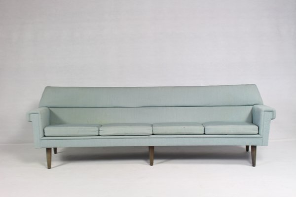 Vintage Danish Curved 4-Seater Sofa by Kurt Østervig, 1960s