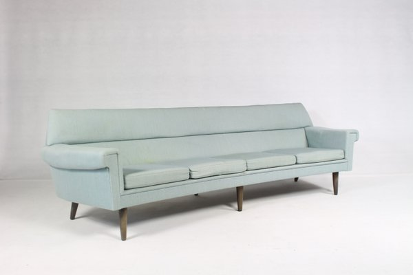 Superbe Vintage Danish Curved 4 Seater Sofa By Kurt ØStervig, 1960s 2