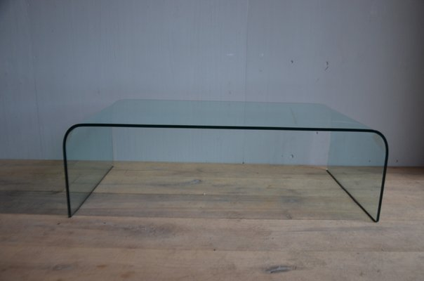 Italian Glass Coffee Table.Vintage Italian Glass Coffee Table 1971