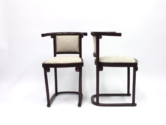 Charmant Cabaret Fledermaus Chairs By Josef Hoffmann For Thonet, Set Of 2 1