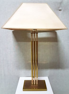 Vintage Brass Table Lamp By Lusterie DeKnudt 1