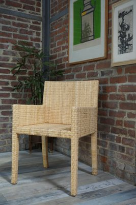 Woven Rattan Armchair By Jean Michel Frank And A Chanaux For Ecart