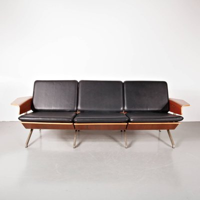 3-Seater Leather Sofa by Cornelis Zitman for Pastoe, 1964