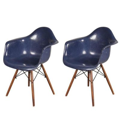 chaise daw par charles & ray eames pour herman miller, 1960s en