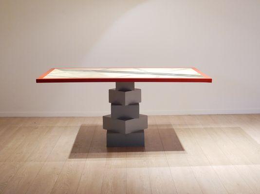 Italian Wood U0026 Faux Marble Console Table, ...