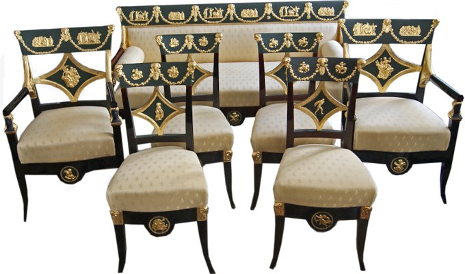 Antique Living Room Set by Josef Ulrich Danhauser for Danhauser Möbelfabrik