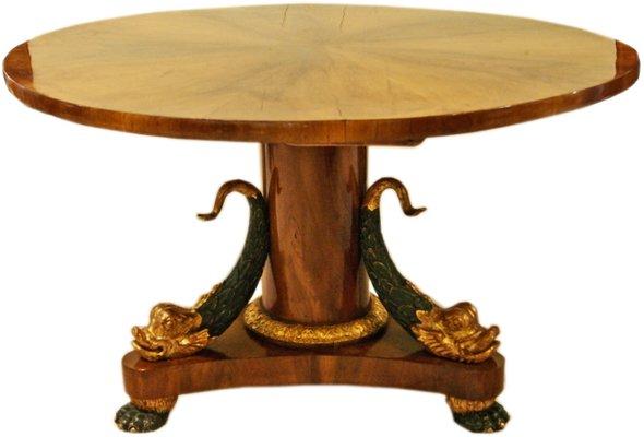 Ovaler Antiker Salon Tisch von Wiener Werkstatt