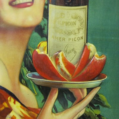 Lithographed Tin Picon Sign from Sirven, 1920s