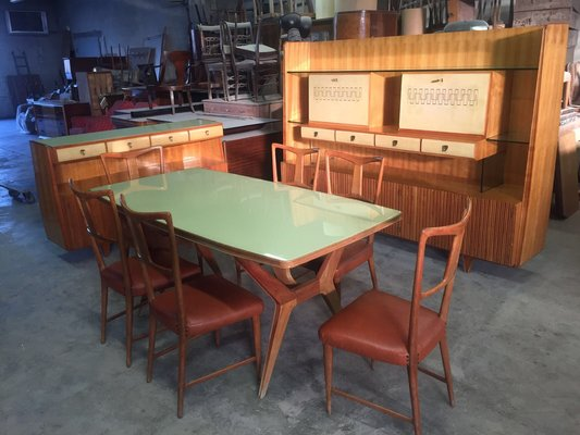 Italian Dining Room Set By Gio Ponti For La Permanente Mobili Cantu, 1940s,  Set