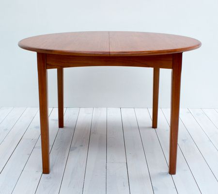 MidCentury Teak Extending Dining Table From Holger Sørensen For - Teak oval extension dining table