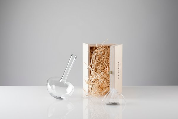 Smoked Gauge Single Stem Vase By Jim Rokos For Giant Mountains Of