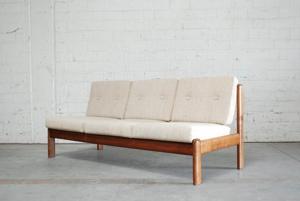 Vintage Cherrywood Sofa From Knoll For