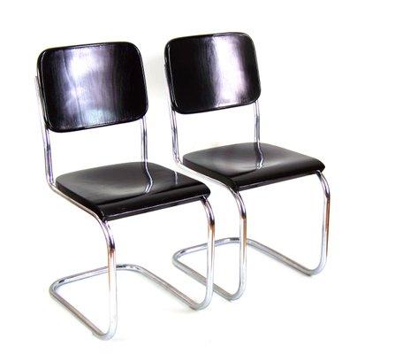 Verchromte B32 Bauhaus Stühle Von Mart Stam Für Slezák 1920er 2er