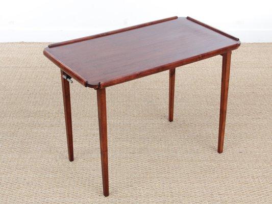Table D Appoint Pliante En Acajou 1960s En Vente Sur Pamono