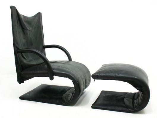 Französischer Zen Sessel Fußhocker Von Claude Brisson Für Ligne