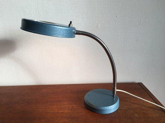Lampe De Bureau Vintage Industrielle Avec Loupe 1950s En Vente Sur