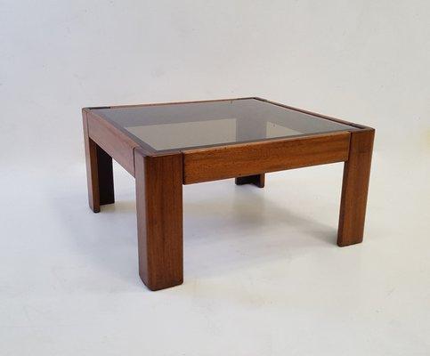 Bastiano Couchtisch Aus Teak Glas Von Tobia Scarpa Fur Knoll 1969