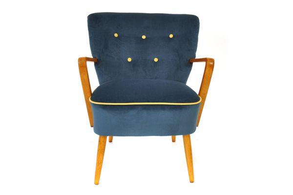 österreichischer Blauer Mid Century Sessel 1950er Bei Pamono Kaufen