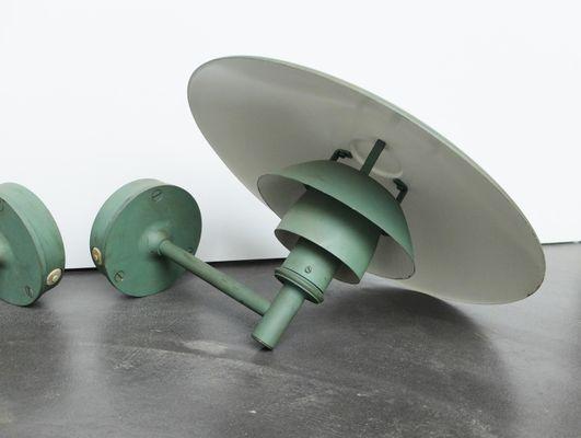 Lampade da esterno ph mid century in rame di poul henningsen