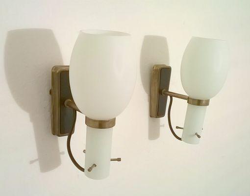 Lampade da parete di stilnovo anni set di in vendita su pamono