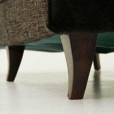Miraculous Italian 3 Seater Black Brown Sofa 1950S Theyellowbook Wood Chair Design Ideas Theyellowbookinfo