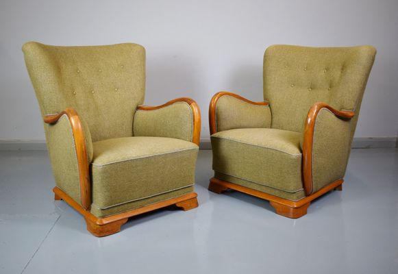 Vintage French Club Chair, 1940s 1
