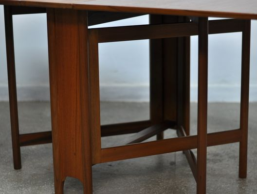 Mid Century Folding Dining Table From McIntosh, 1970s 3