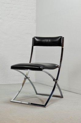 chaises pliables vintage par marcello cuneo pour mobel italia set de 4 1 - Chaises Pliables