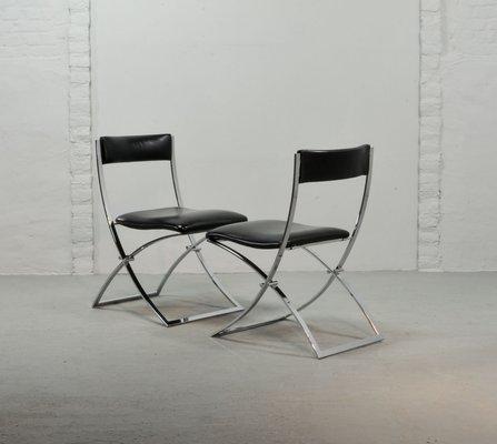 Sedie Pieghevoli Di Design.Sedie Pieghevoli Vintage Di Marcello Cuneo Per Mobel Italia Set
