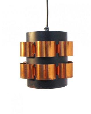 Danische Lampe In Schwarz Gold Von Fog Morup 1960er Bei Pamono