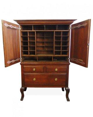 Antique Swedish Pharmacy Cabinet, 1750s 1