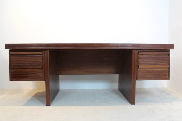 Charmant Vintage Dutch Rosewood Executive Desk