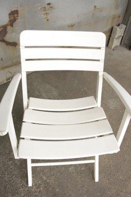 Klappbare Vintage Gartenstühle Aus Weiß Lackiertem Holz Von Herlag, 2er Set  14